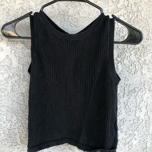 brandy melville open back shirt